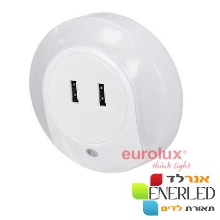 מנורת-לילה-טבעת-עם-חיישן-אור-וזוג-שקעי-USB-X-2